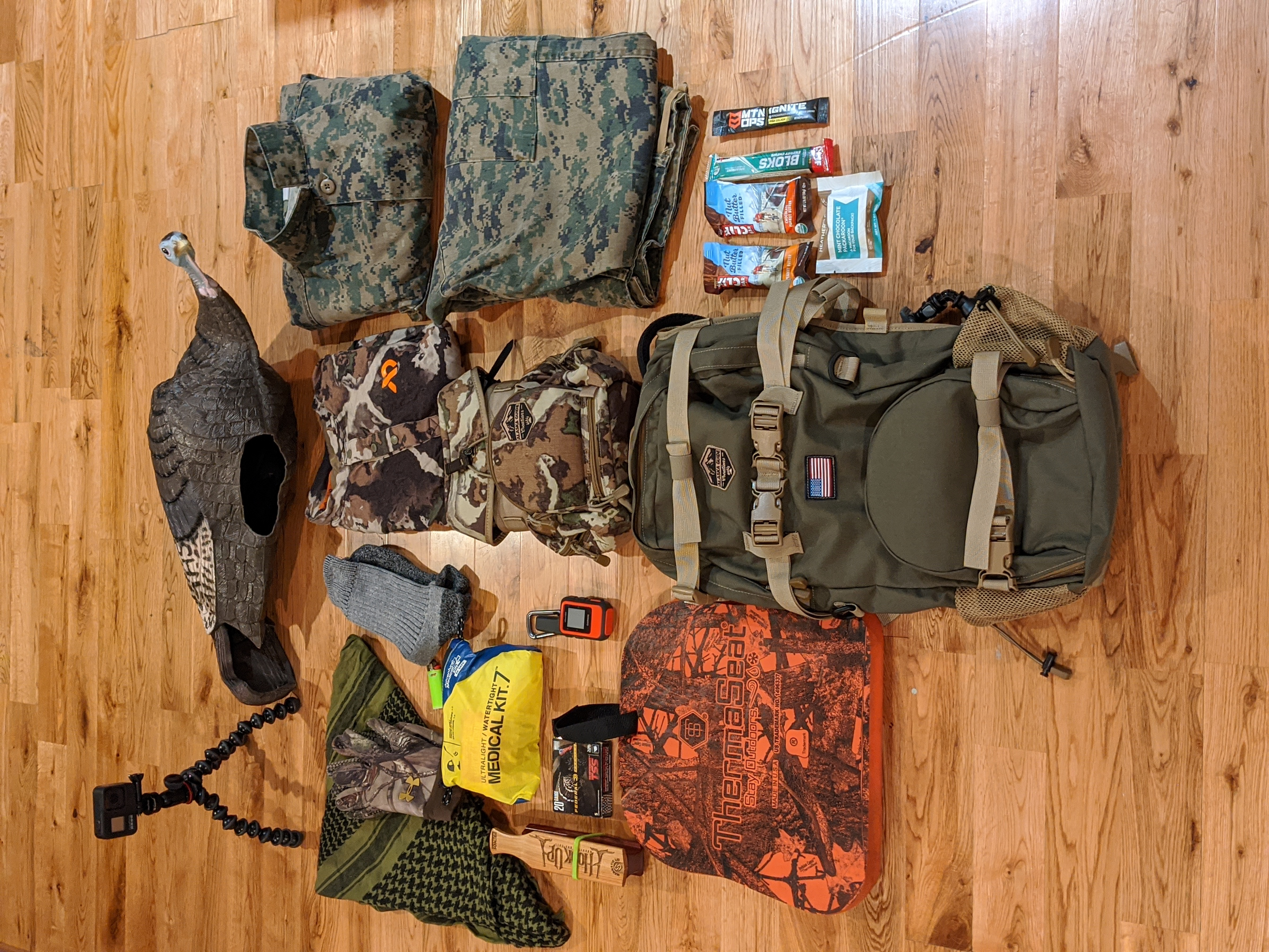 The AGC Scout Backpack getting ready for some turkey hunting in the Colorado mountains.