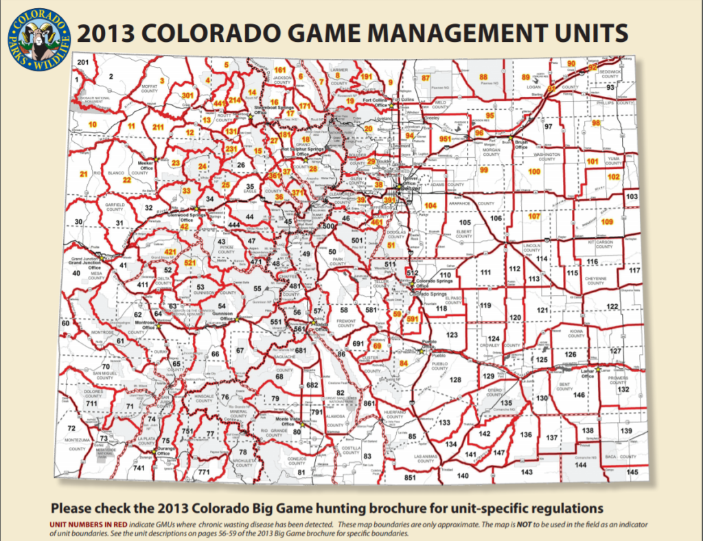 Colorado's Game Management Unit breakdown.