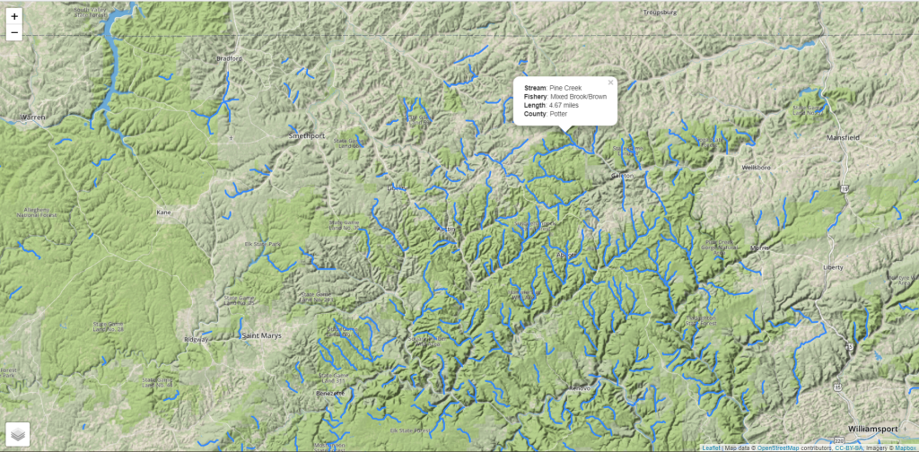 Class A Trout Streams in Pennsylvania are hard to locate, so we made a map!