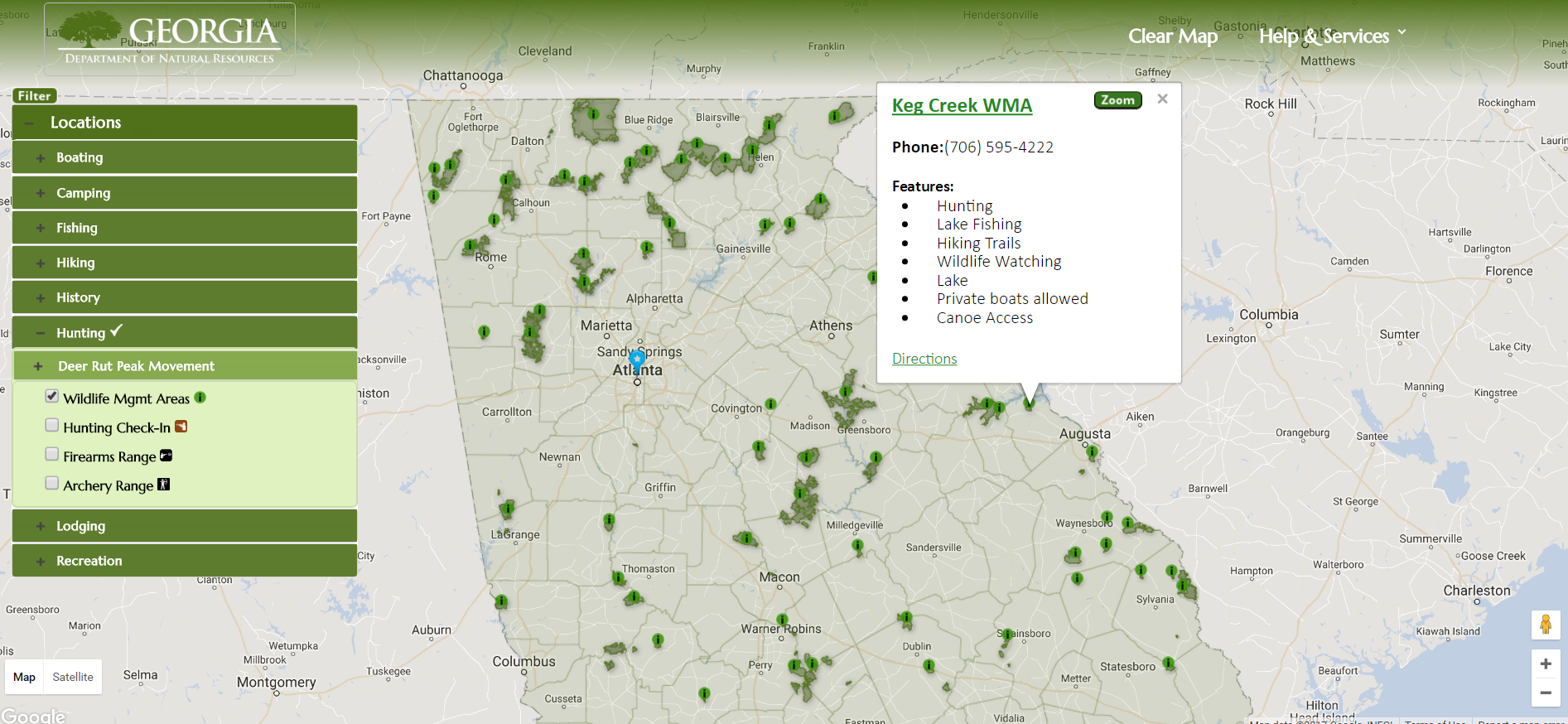 Interactive Map Of Georgia.State Interactive Maps Apt Outdoorsapt Outdoors Be An Apt In The