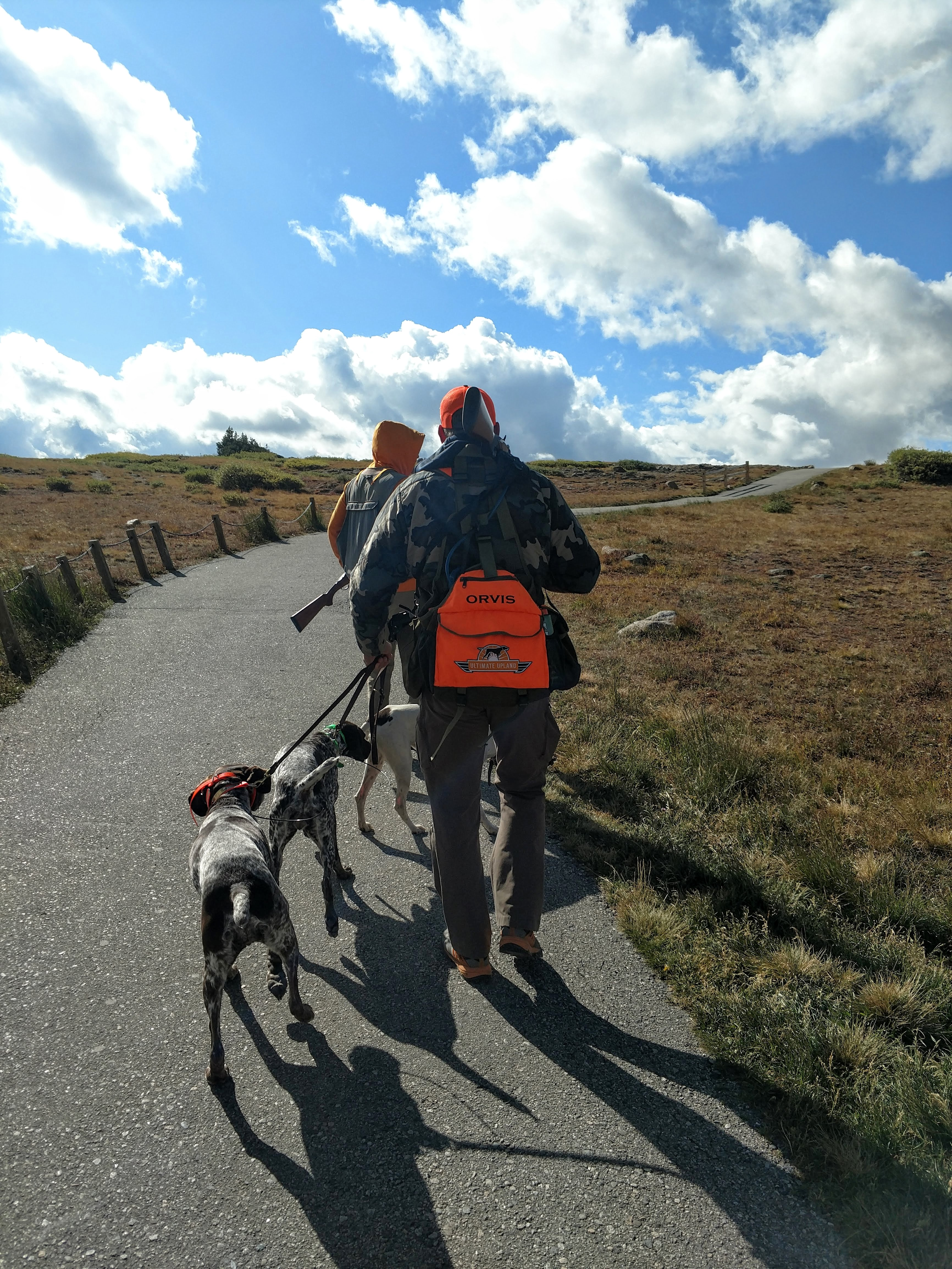 Gearing up for another ptarmigan hunt in another high traffic area.