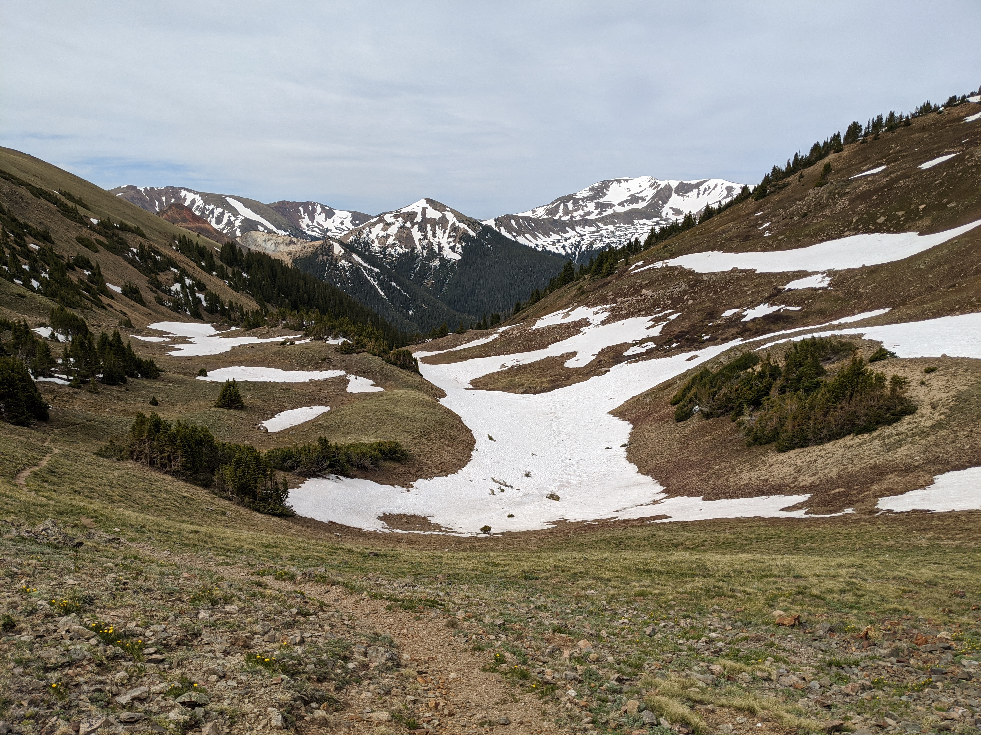 Vasquez Pass, at the very edge of the Vasquez Peak Wilderness.