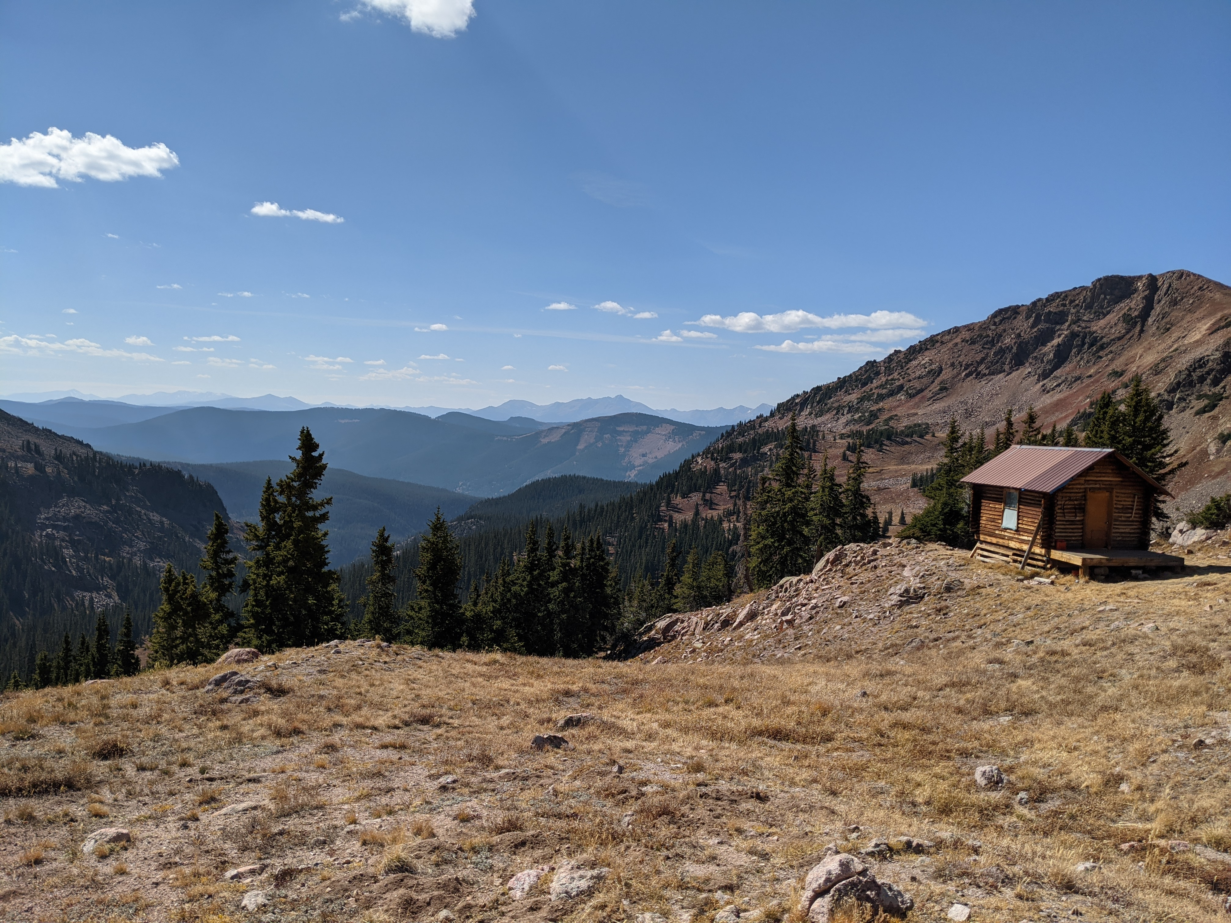A cabin from what is likely an inholding inside of Eagles Nest Wilderness