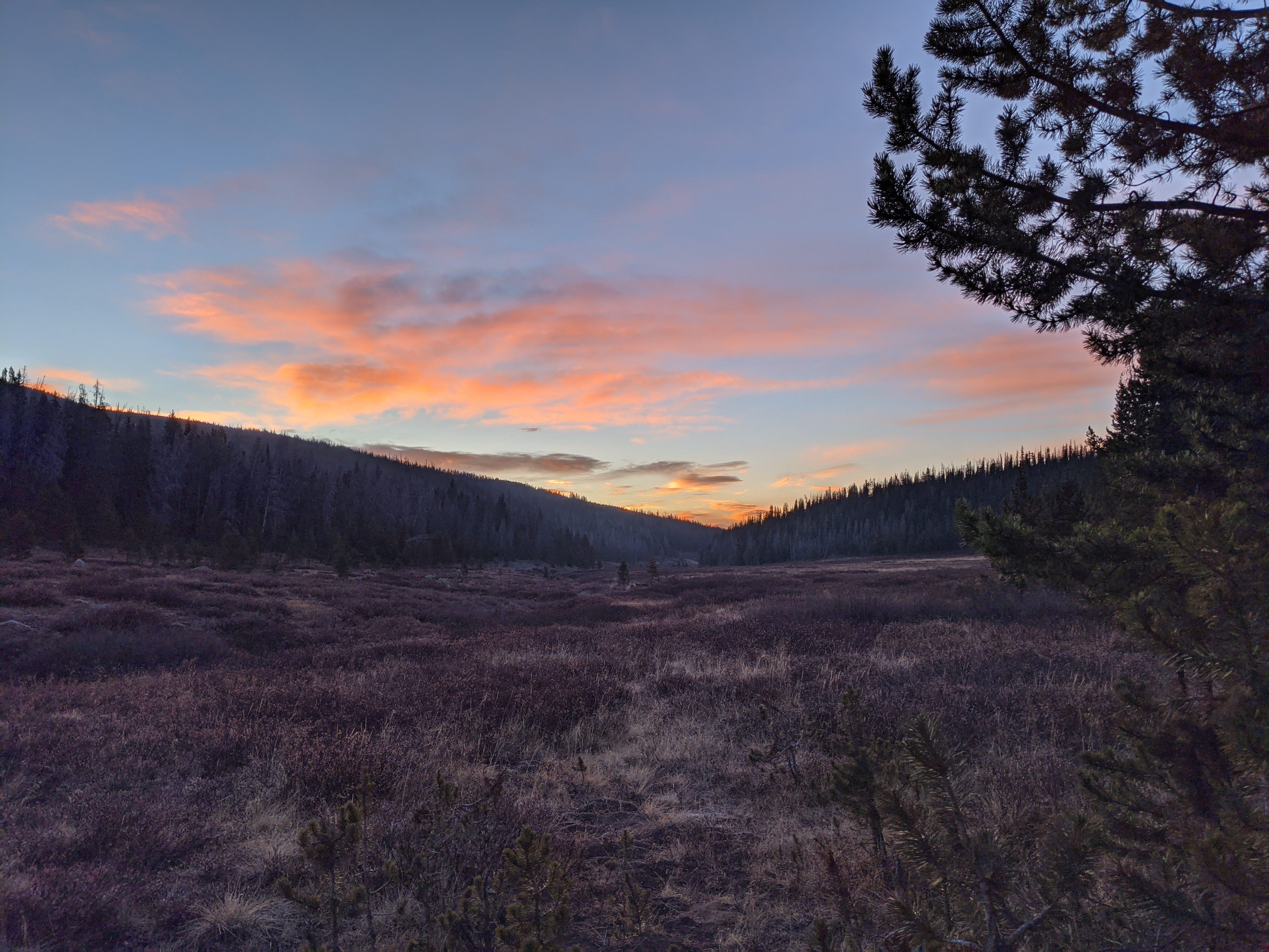 Sunrise on opening morning before some smoke rolled into the valley.