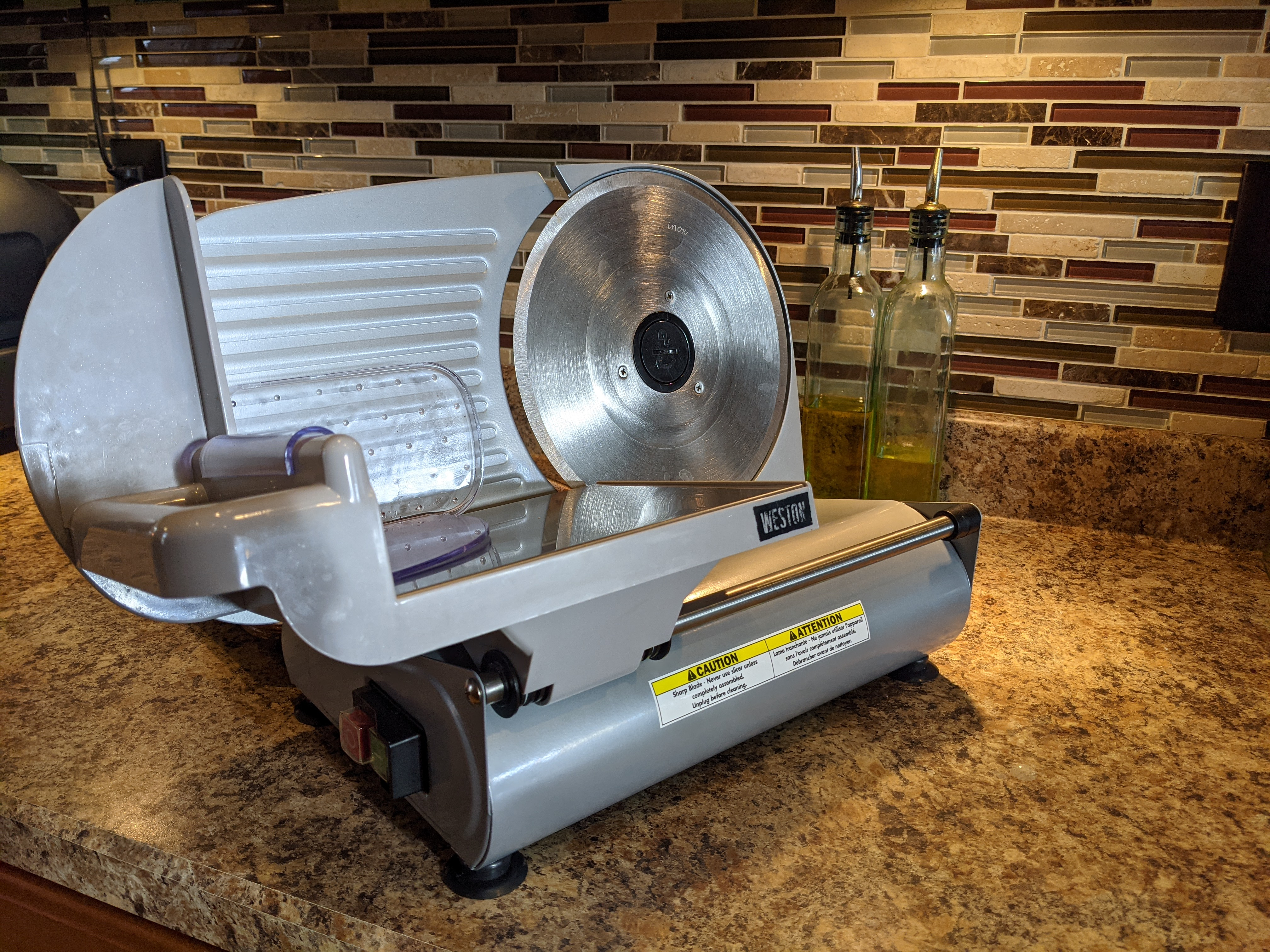"Weston 9"" deli slicer"