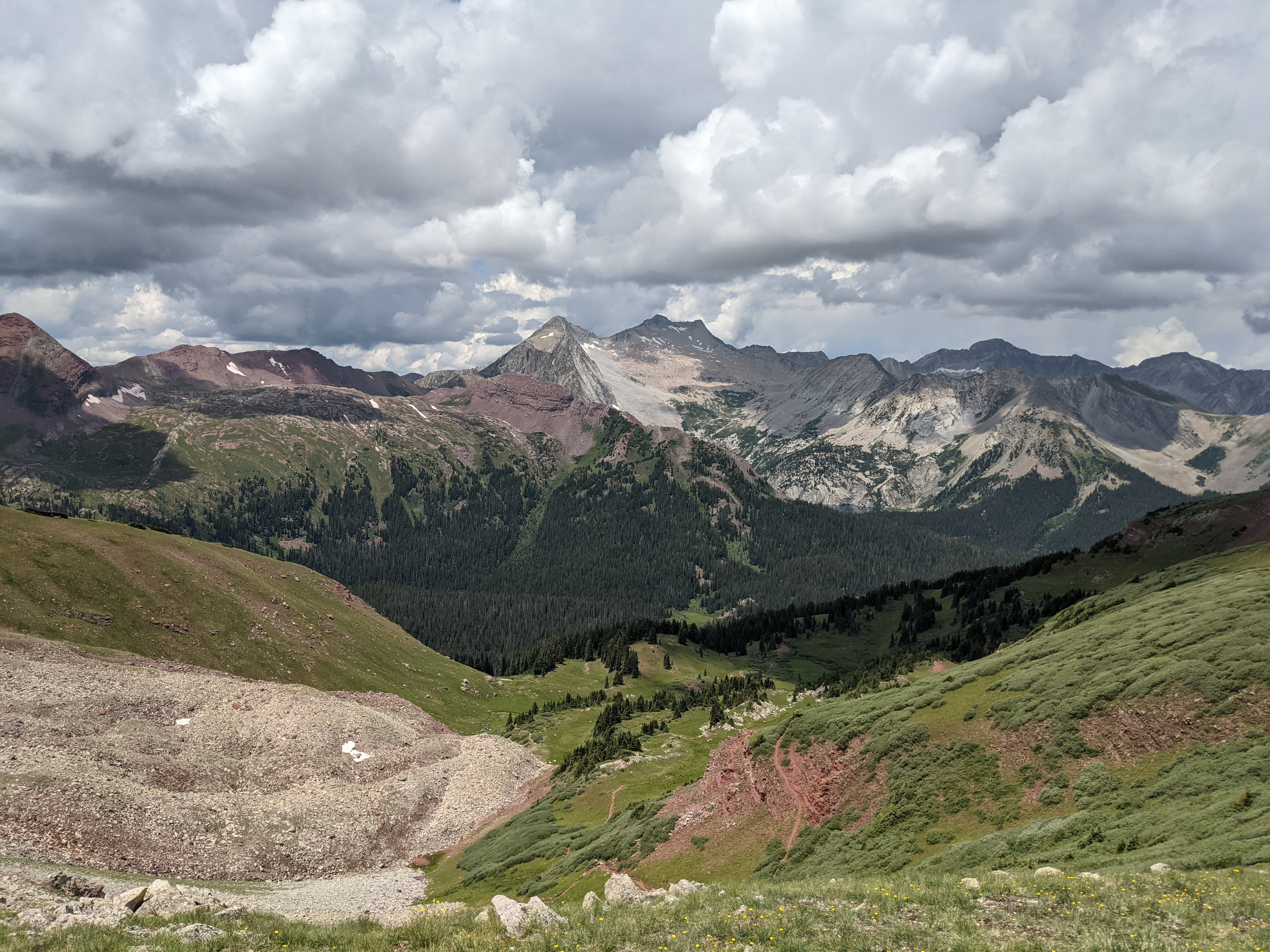 The top of Buckskin Pass, the first pass on Four Pass Loop.